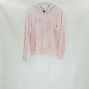 Dots Pink Light Hoodie Size XL